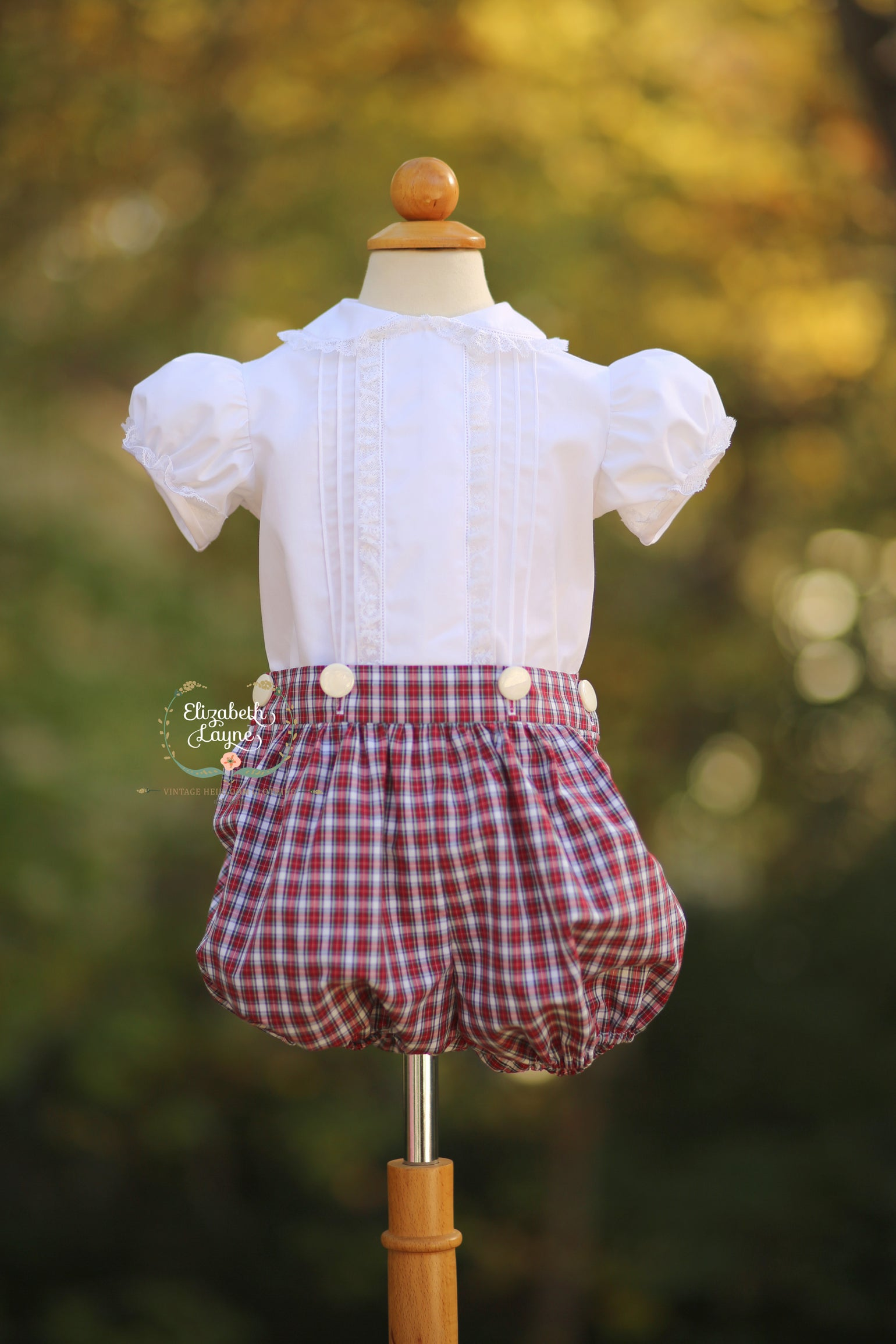 Image of Boy's & Girl's Tilly Tartan Bubble