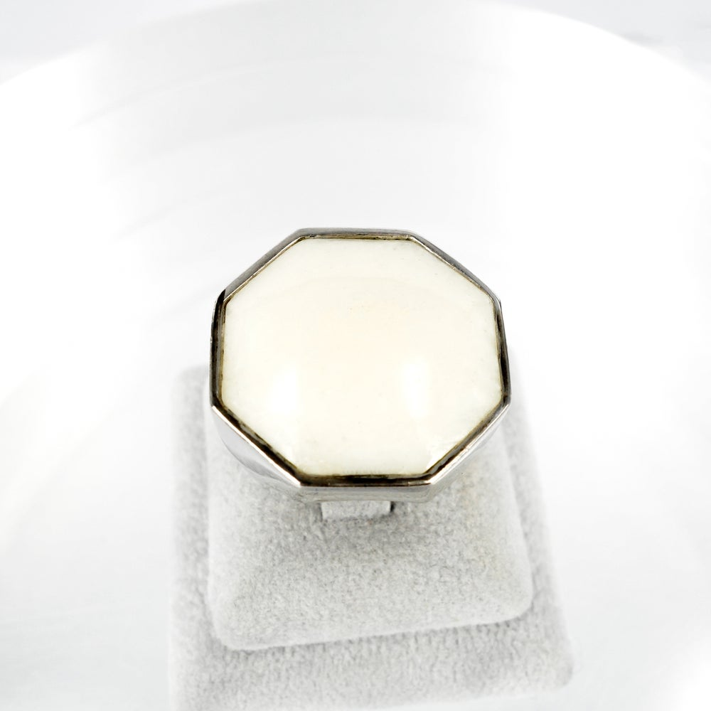 Image of Sterling silver large cocktail ring M2066