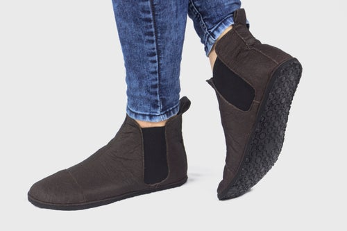 Image of Chelsea boots in Brown Pinatex®