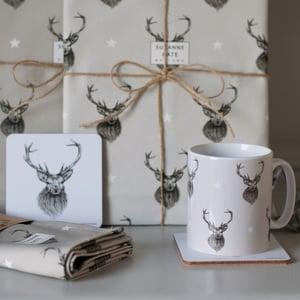 Image of Stag earthenware mug