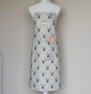 Image of Stag apron in beige