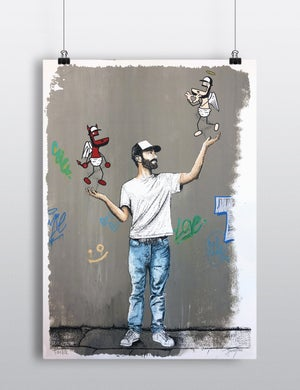 """Sérigraphie / Portrait d'artiste *02* """"Toctoc"""""""