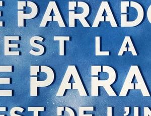 """Digigraphie / """"Le paradoxe c'est la vie le paradis c'est de l'intox"""""""