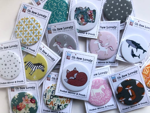 Oh Sew Lovely -Pocket mirror and pouch