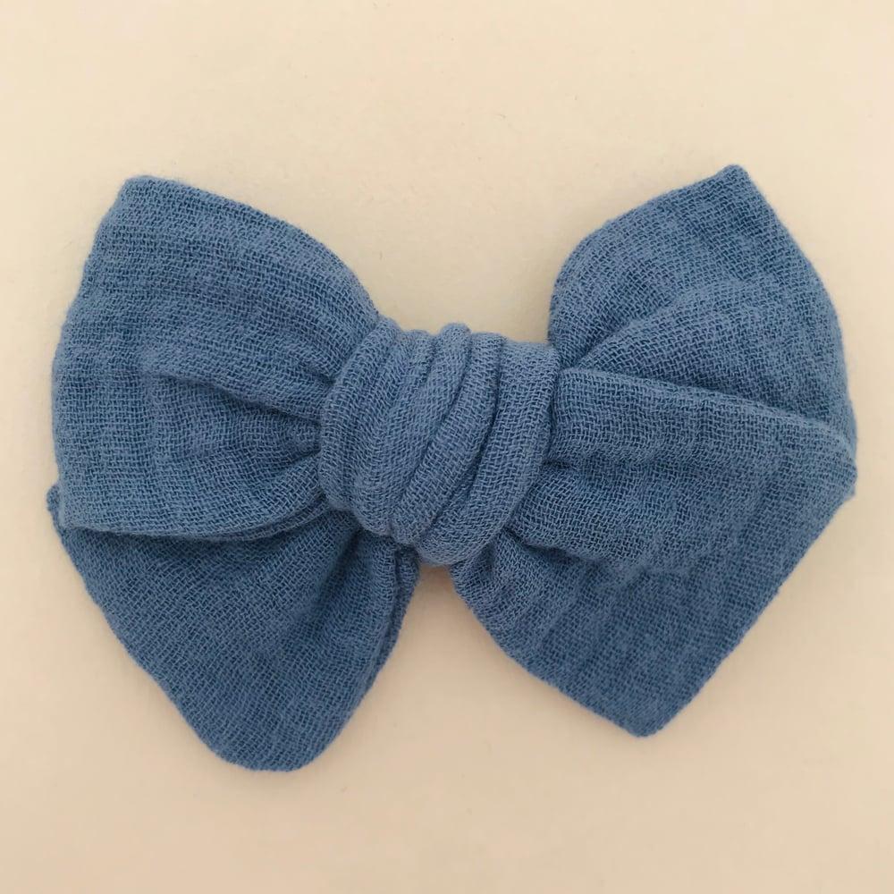 Image of Barrette & bloomer double gaze bleu indigo