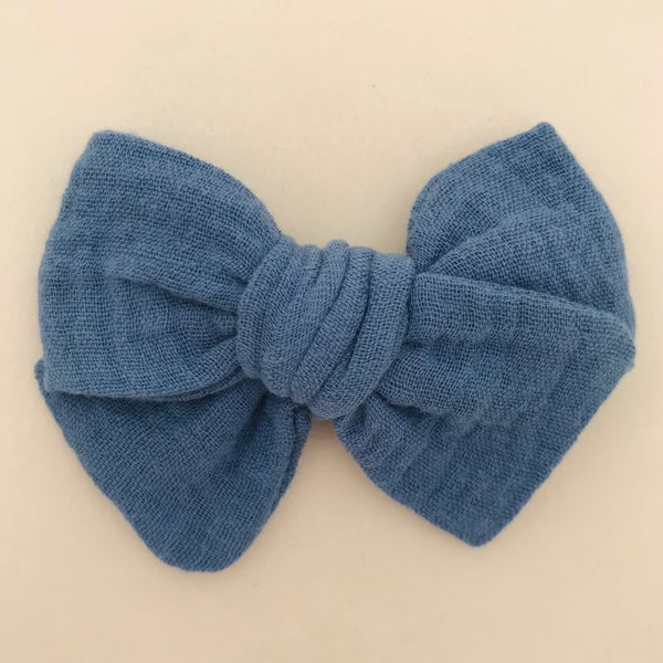 Image of Barrette & bloomer double gaze bleu indigo