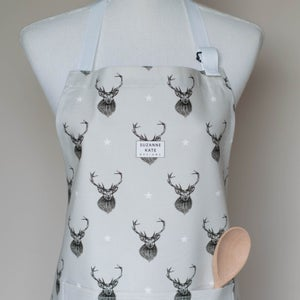 Image of Stag apron in grey