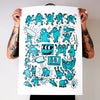 Screen Print - Keith Haring tribute - Turquoise