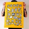 Screen Print - Keith Haring Tribute - Greyscale