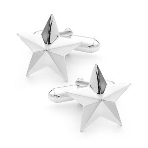 Image of Star Cufflinks - In Sterling Silver