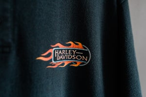 Image of 90's Vintage Harley Davidson Savannah Henley Tee