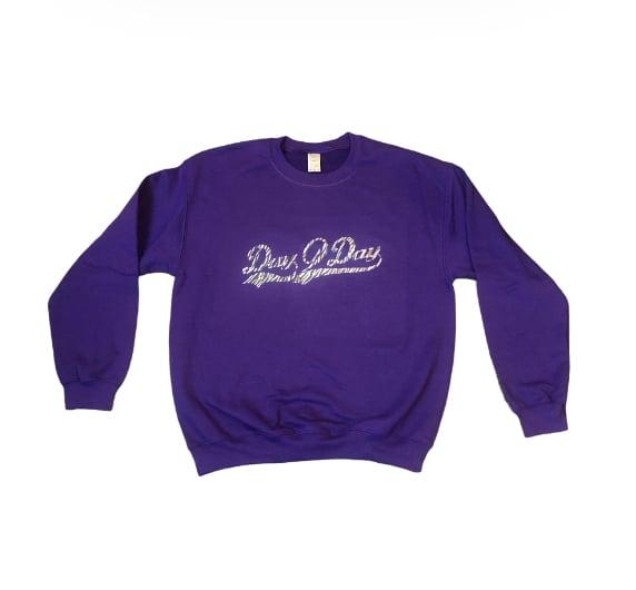 Purple/Zebra Signature Logo Sweatshirt