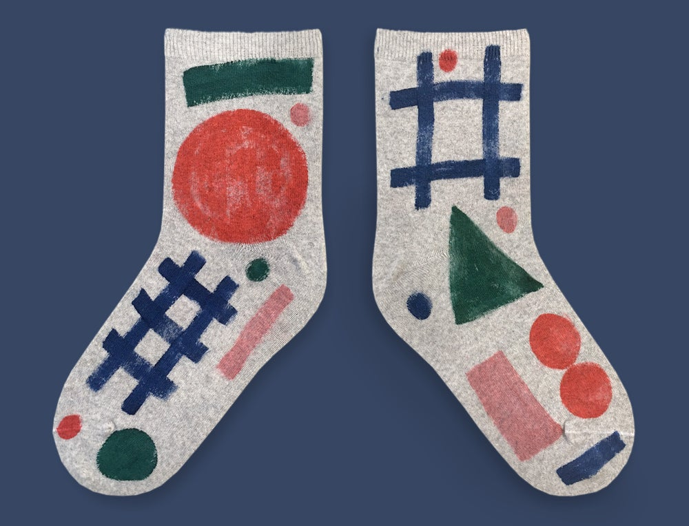 Image of GEOMETRIC PAINTED SOCKS