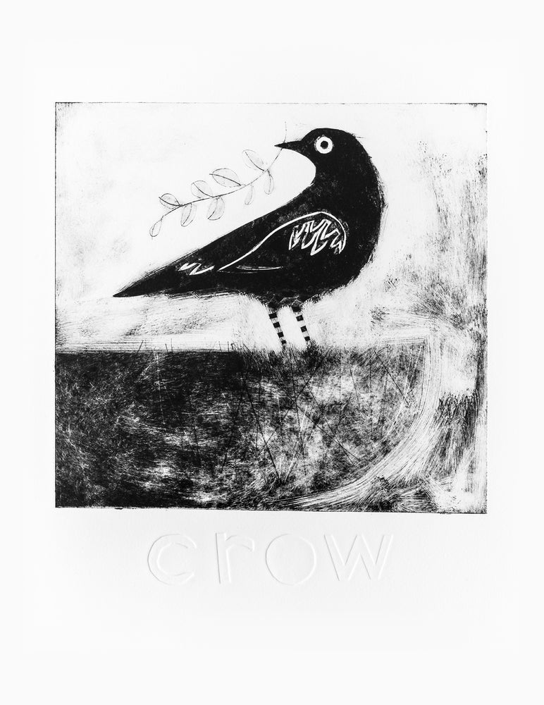 Image of Crow drypoint etching