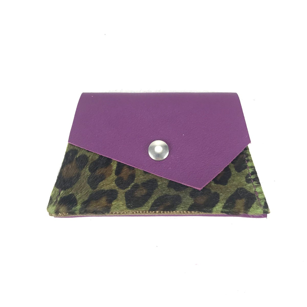 PONY Small Violet Léopard Vert