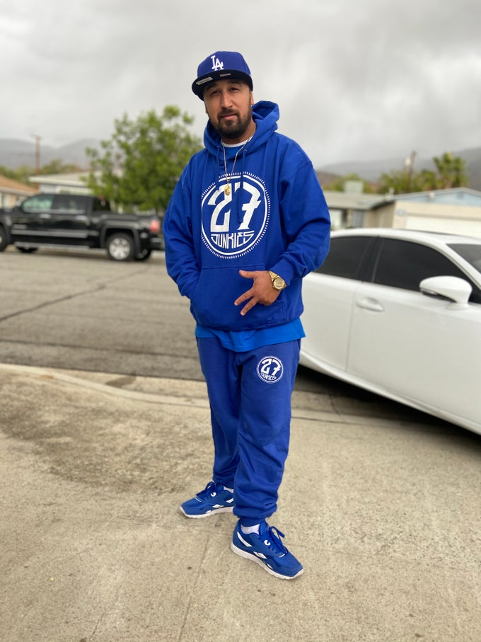 Image of Royal blue logo sweater