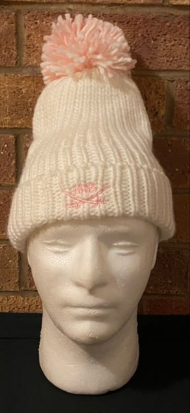 Image of Cream bobble hat (Free UK postage)