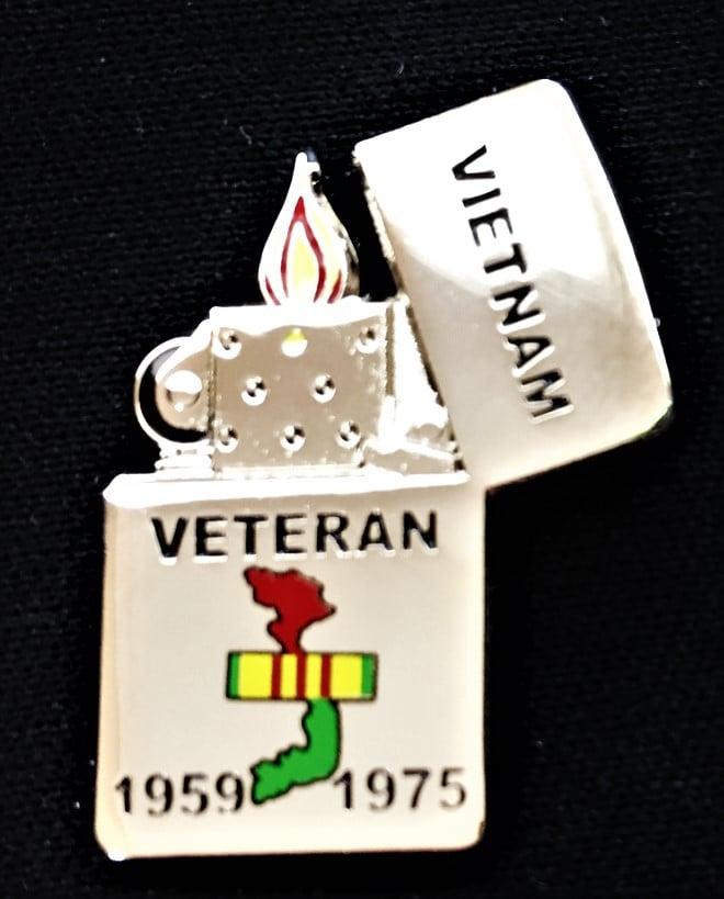 Image of Vietnam Veteran Zippo (style) Lighter pin