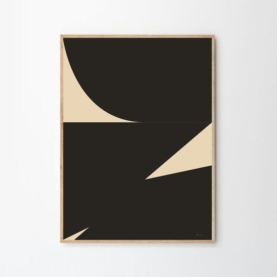 Image of BYC Design studio Mid 02 print, framed
