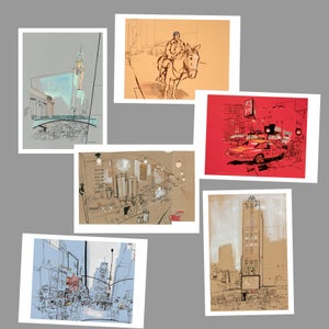 Image of Six New York postcards
