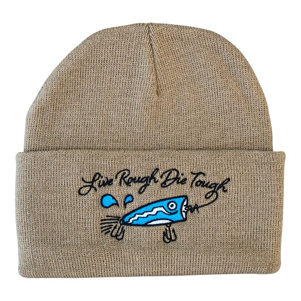 "Image of Dark Khaki ""Popper"" Beanie"