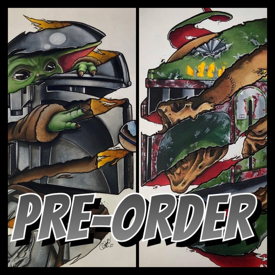 Image of Mando and Boba Fett Combo Prints