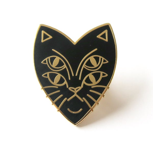 Image of Four Eyes enamel pin badge