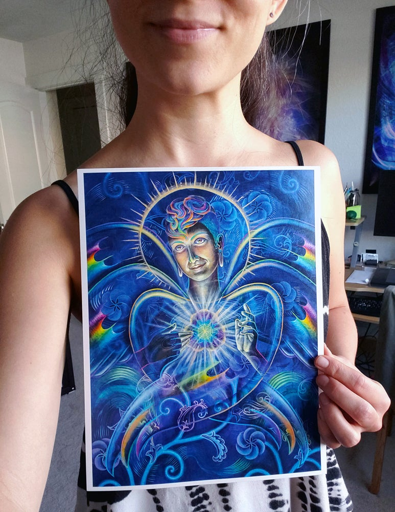 "Image of NEW! open edition 'Seraphibonacci' 8.5""x11"" pearlescent print"