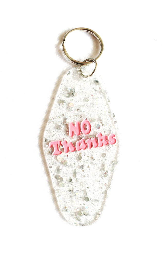 Image of No thanks Motel Key Tag