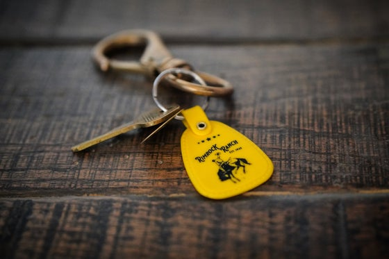 "Image of Vintage ""Bronc Rider"" Key Tag"