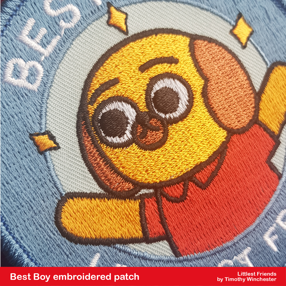 """Best Boy - 3.5"""" embroidered patch"""