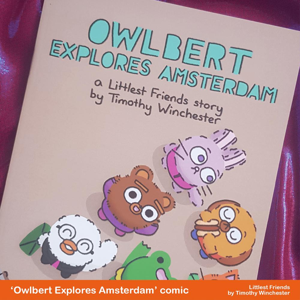 'Owlbert Explores Amsterdam' - A5 comic
