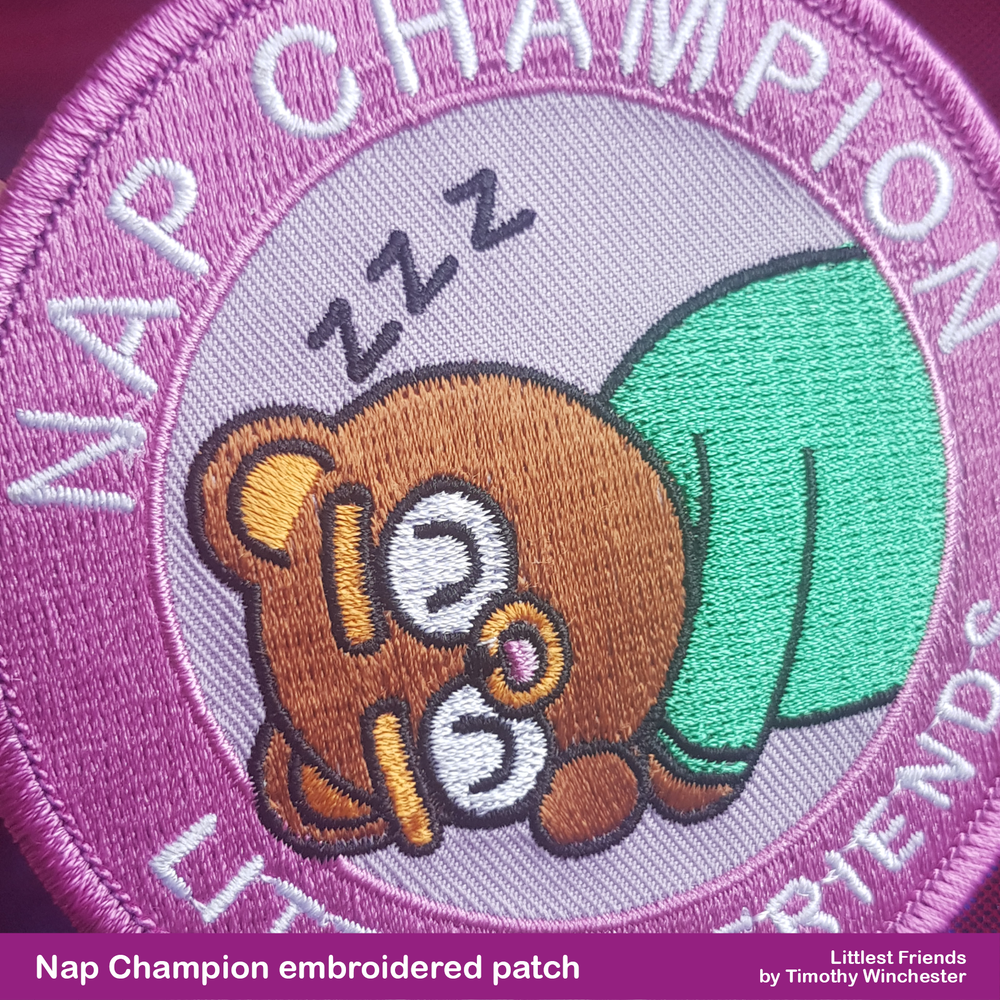 """NAP CHAMPION - 3.5"""" EMBROIDERED PATCH"""