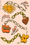 Sun Charm Stickers