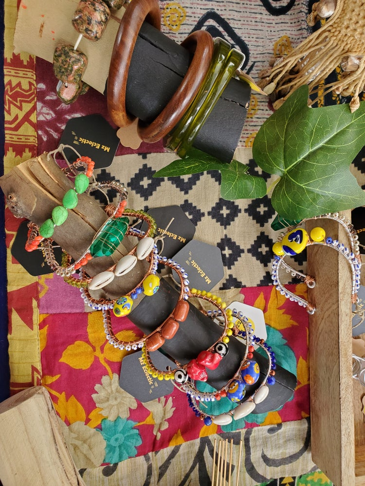 Image of Beaded Flex Bangles