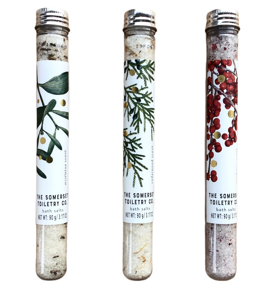 Image of Winter Bath Salts - Mistletoe, Cedarwood & Cranberry
