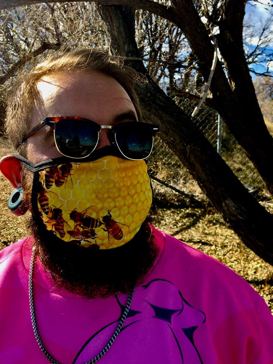 Image of Bees In The Trap Face Mask