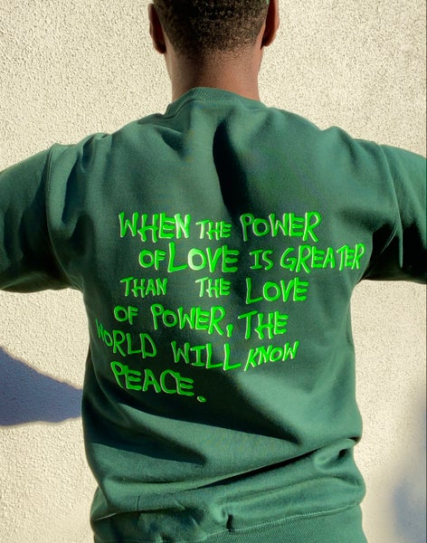 "Image of ""WORLD PEACE"" sweatshirt"