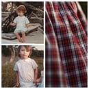 Image 1 of Boy's Holiday Peter Pan Collar Shirt & Short Set
