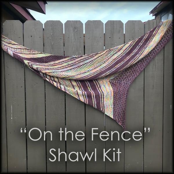 """Image of """"On the Fence"""" - Shawl Kit"""