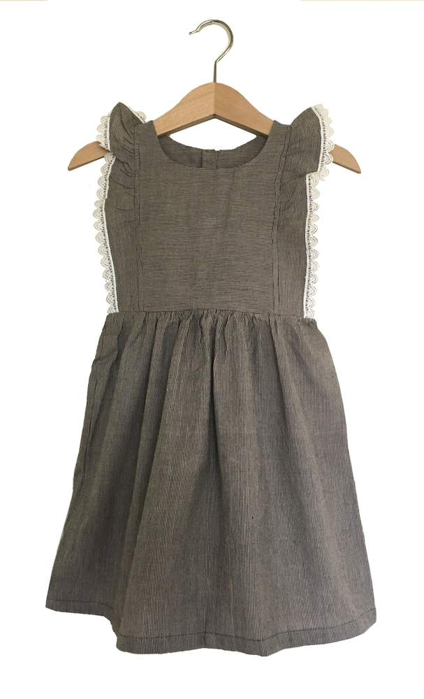 Image of Ceenu Dress Charcoal & Lace