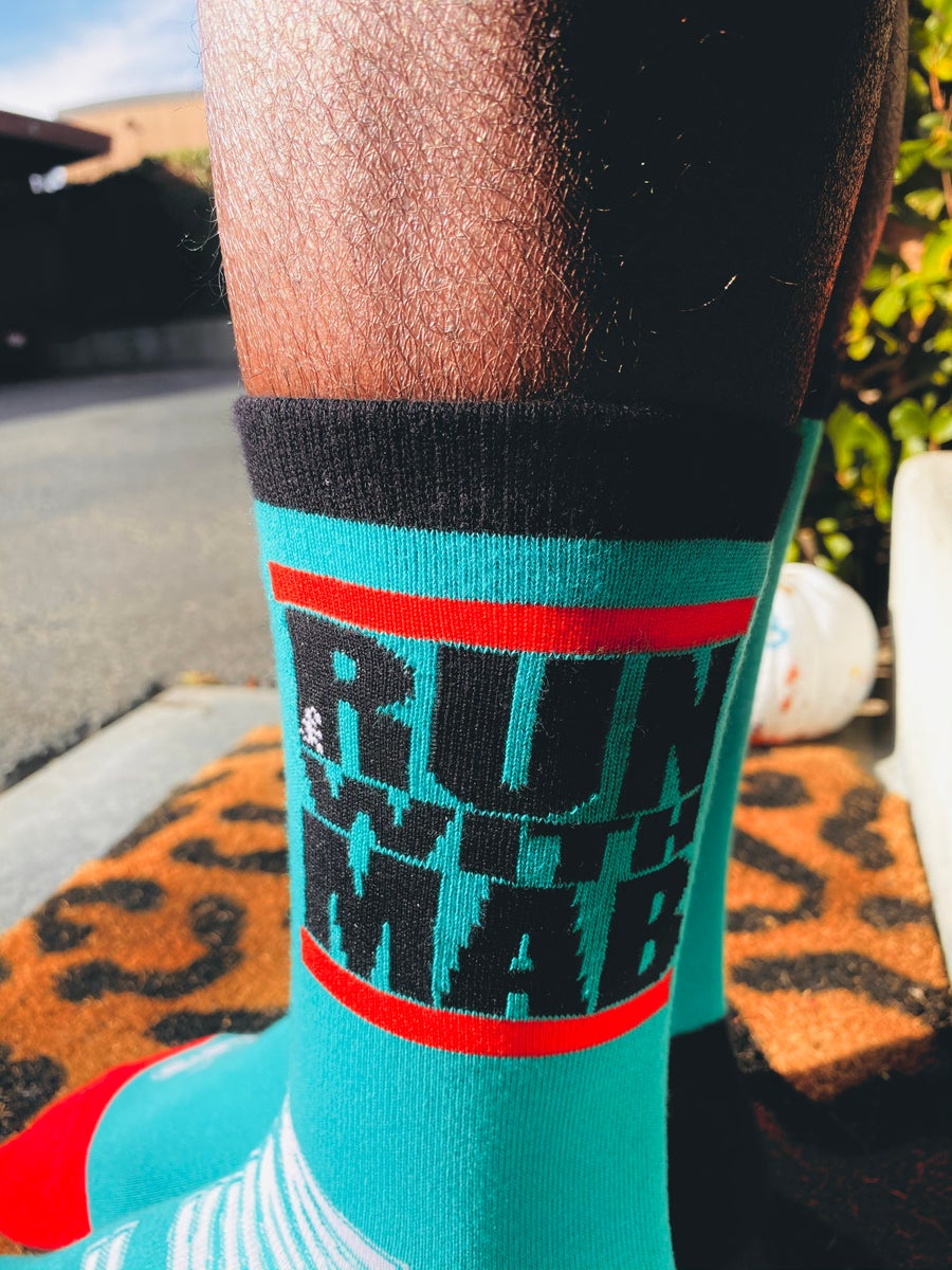 Image of RUN WITH MAB Crew Socks