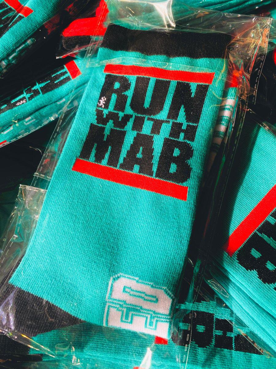 Image of RUN WITH MAB Crew Socks