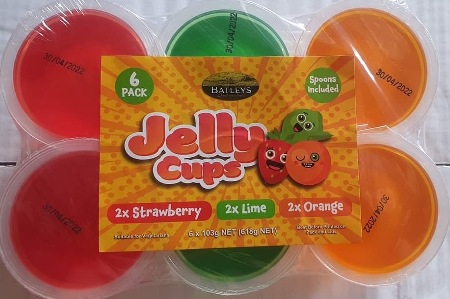 Image of Batleys Jelly Cups 6Pk With Spoon 6X103g