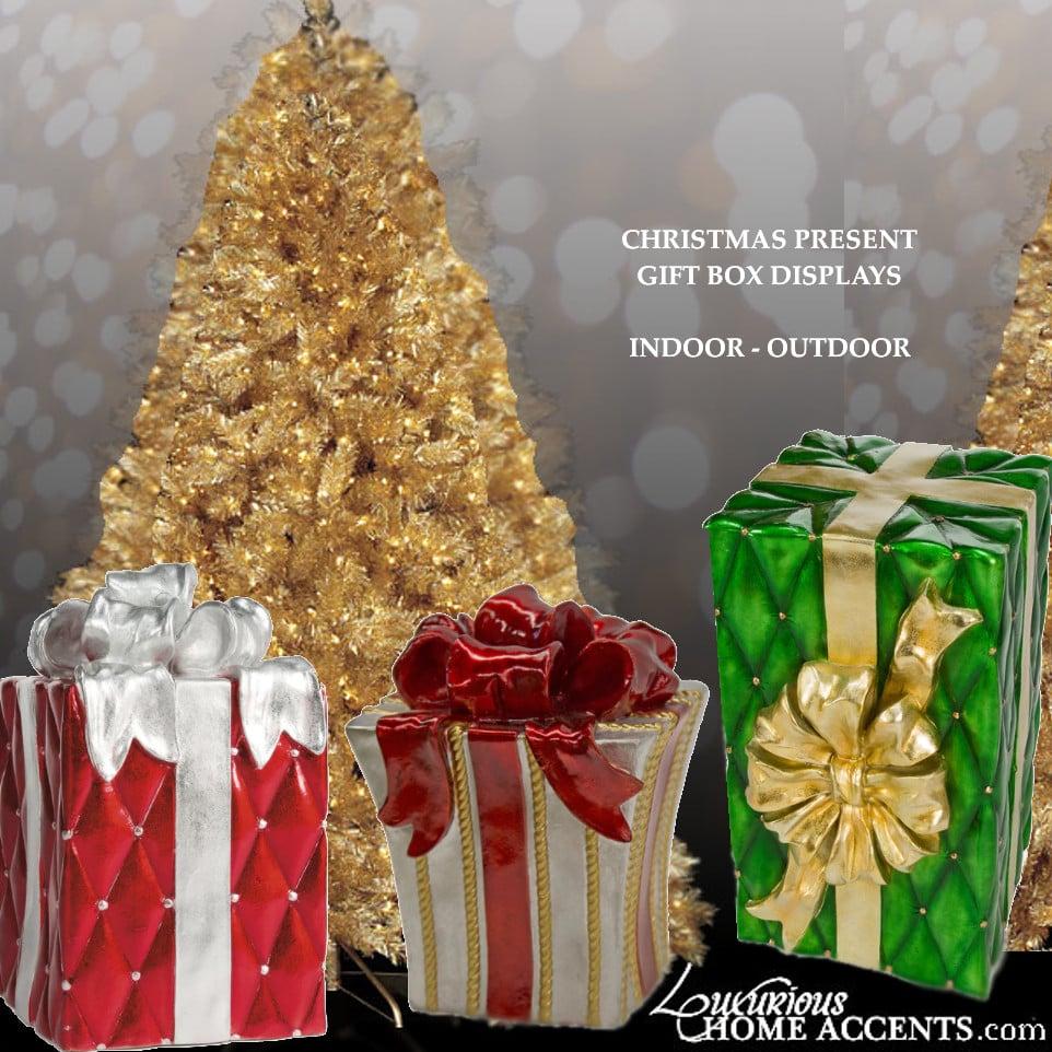 Image of Christmas Present Gift Box Displays Indoor/Outdoor