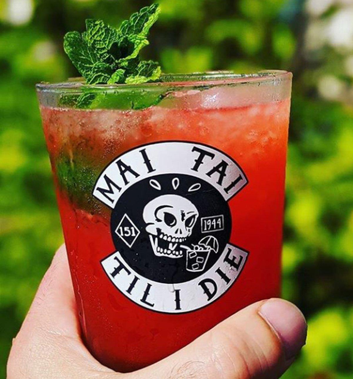 MAI TAI TIL I DIE 15 oz Cocktail Glass