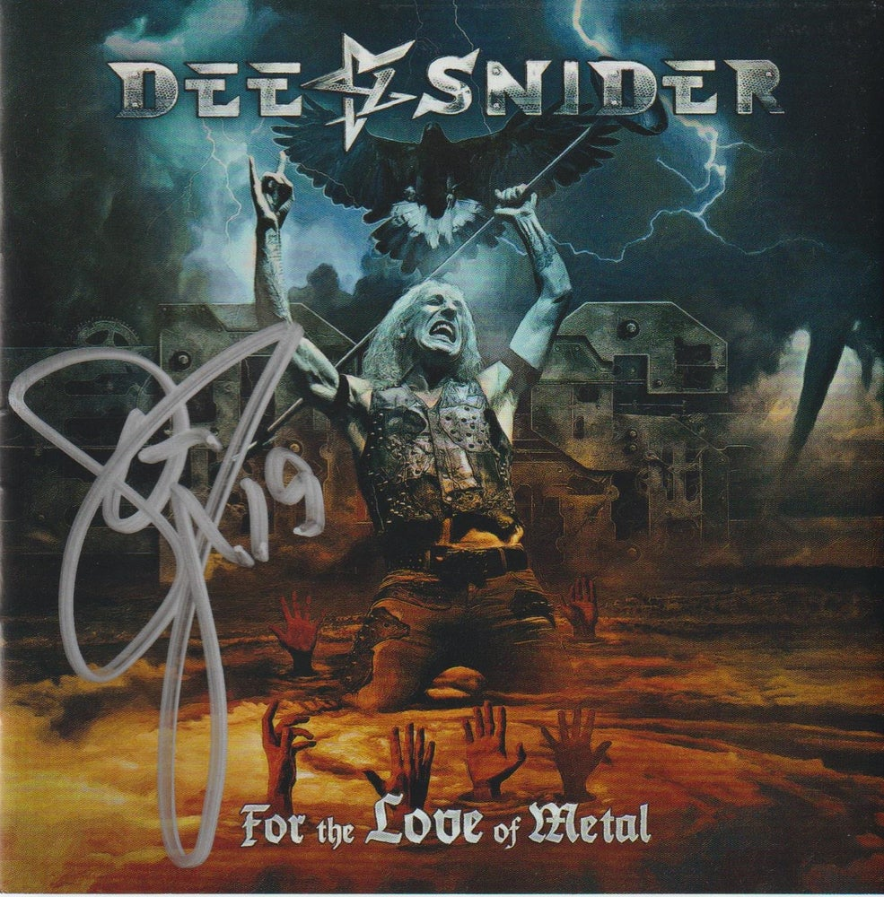 Image of DEE SNIDER - For The Love Of Metal - AUTOGRAPHED CD