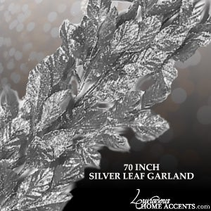 Image of Silver Leaf Garland 70 Inches