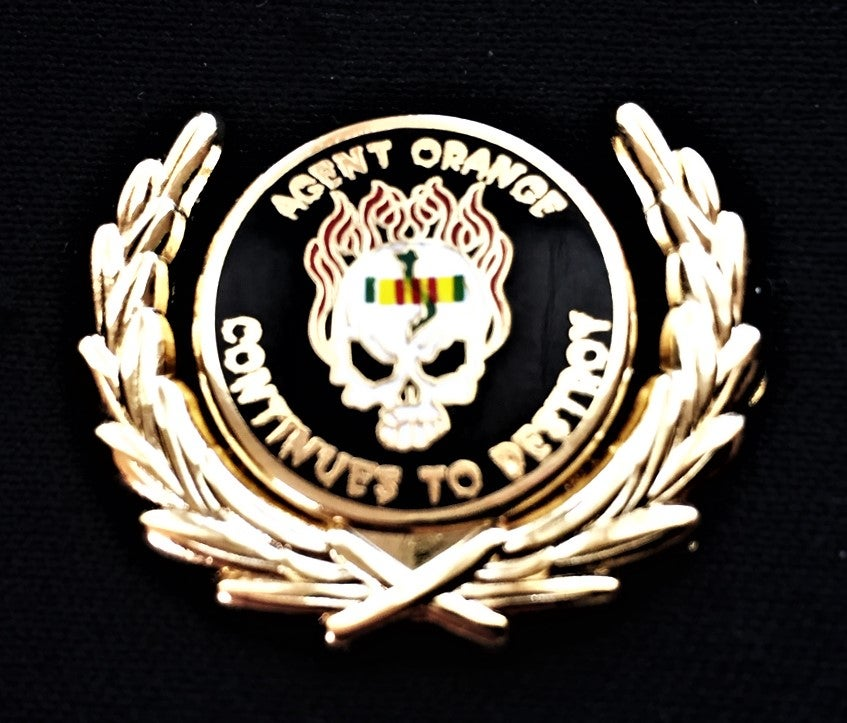 Image of Vietnam Veteran Agent Orange Continues To Destroy Wreath Pin