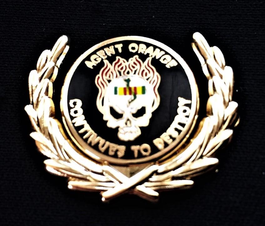 Image of Vietnam Veteran Agent Orange Continues To Destroy Wreath Pin
